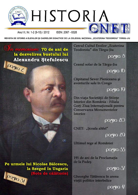 """Maniera de prezentare a revistei """"HISTORIA CNET"""" este una modernă, foarte atrăgătoare pentru elevi."""