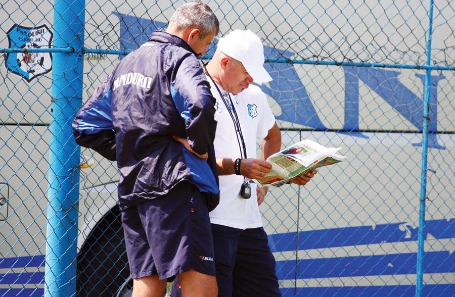 Grigoraş nu pare prea impresionat de faptul că vede în toate ziarele Pandurii pe primul loc în Liga I.