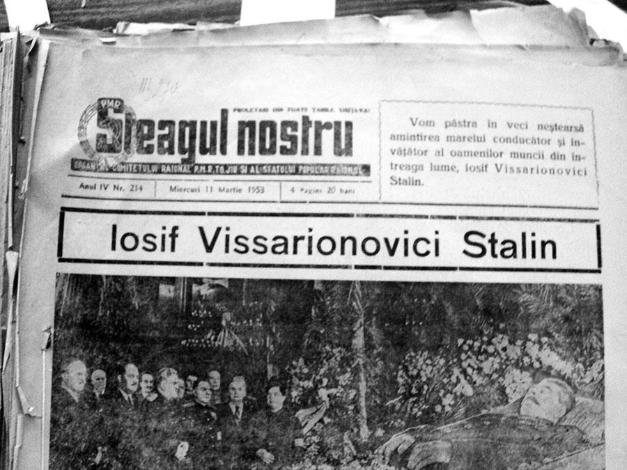 Toată presa românească a marcat sfârşitul lui Stalin