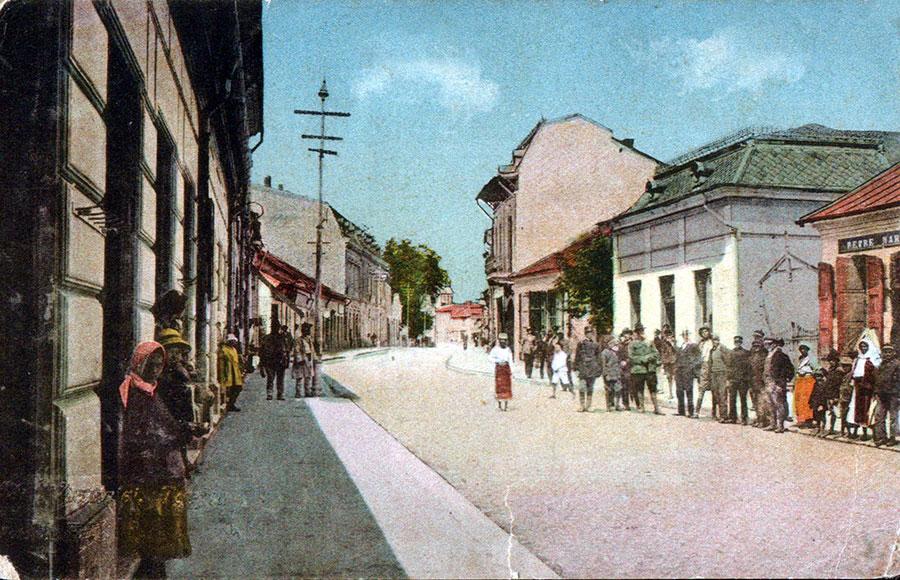 Iată cum arăta principal stradă a orașului Târgu-Jiu, la începutul secolului trecut