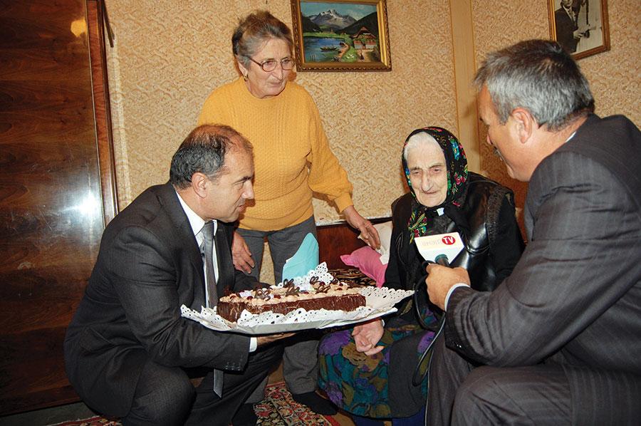 La sărbătorirea vârstei de 100 de ani, Polina Diță a avut parte de vizite surpriză