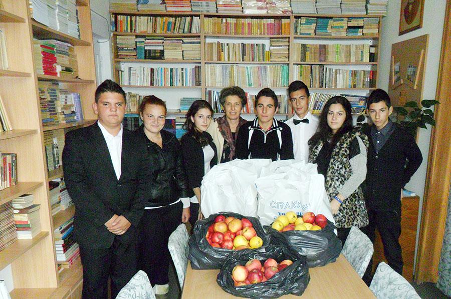 Legumele și fructele strânse în acest proiect au fost donate