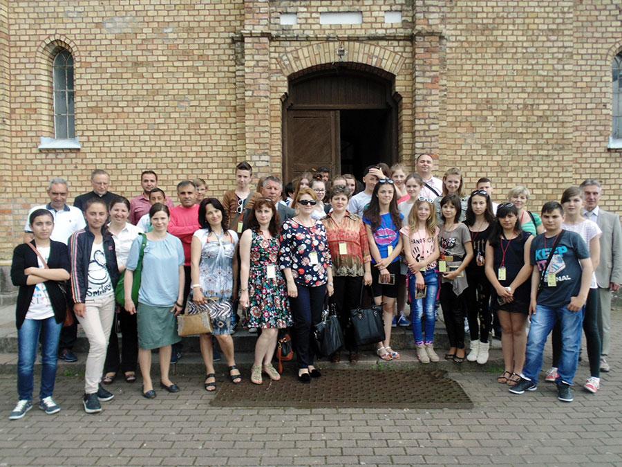 Iată o parte dintre participanţii la Proiectul Comenius din Polonia