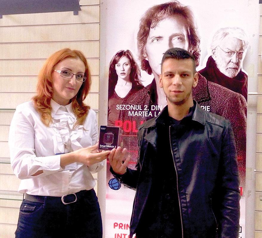 Constantin Luigi Dragomir, din Targu Jiu, a câștigat un ceas Sony Smartwatch 2