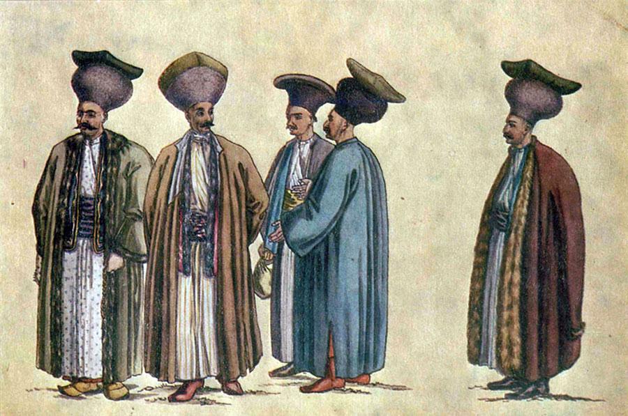 Iată cum arătau negustorii și boierii în perioada menționată de text