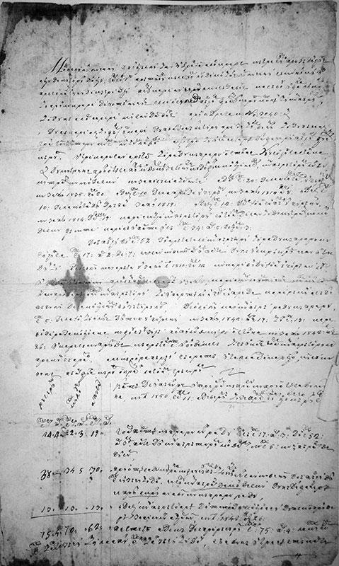 Cartea de împăciuire între Radu Căpraru cu Prioteasa Dumitrana a Popii Dumitru ot Stoinița, cu leatu 1850 septemvrie 11