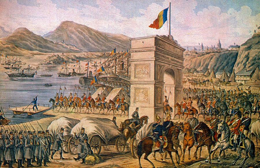 Iată o imagine emblematică a gloriei și eroismului românesc, trecerea Dunării în 1877