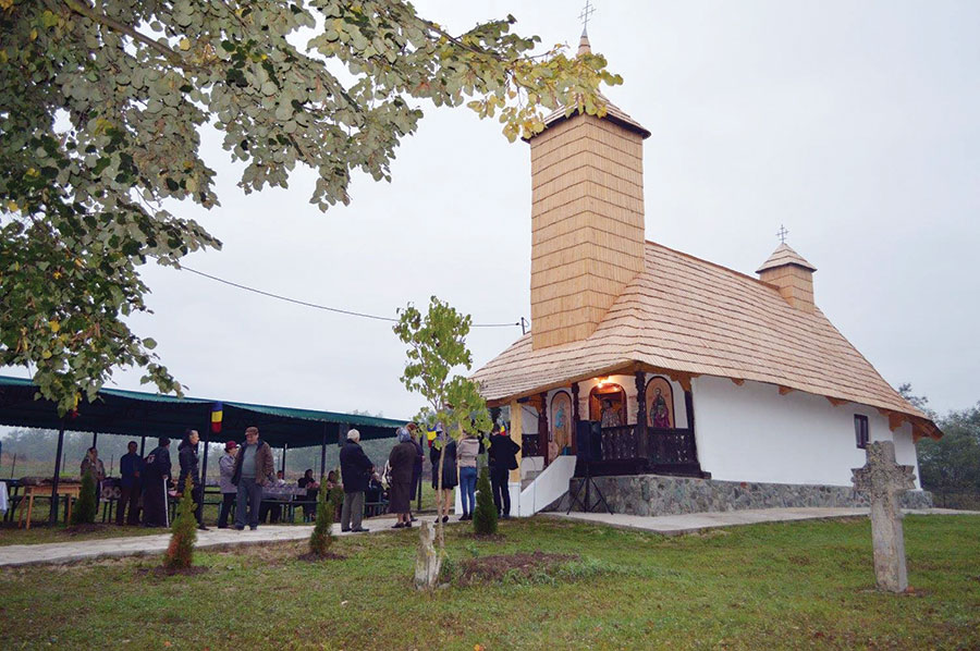 Biserica Adormirea Maicii Domnului-Mielușei, păstrată peste ani