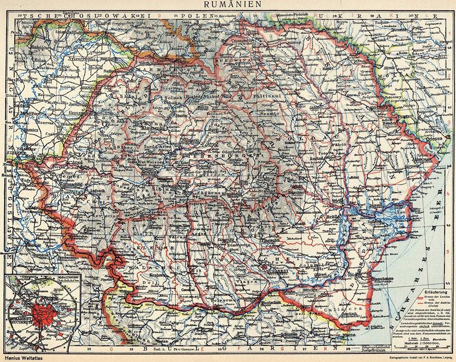 Iată cum arăta harta României la momentul desfiinţării judeţelor după model sovietic