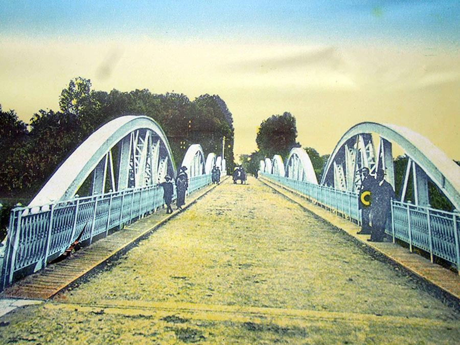 Iată cum arăta Podul Jiului la vremea confruntărilor din Primul Război Mondial