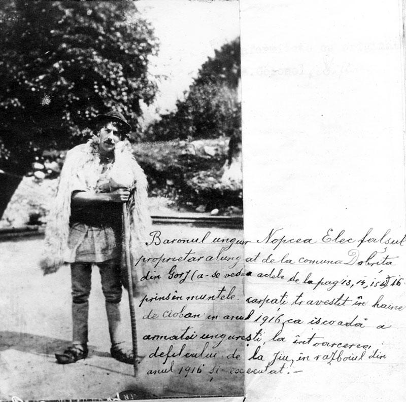 Arhivele gorjene păstrează inclusiv o fotografie cu cel care s-ar fi vrut stăpân în Gorj