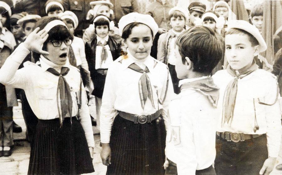 Elevii erau în prim-planul manifestărilor propagandistice