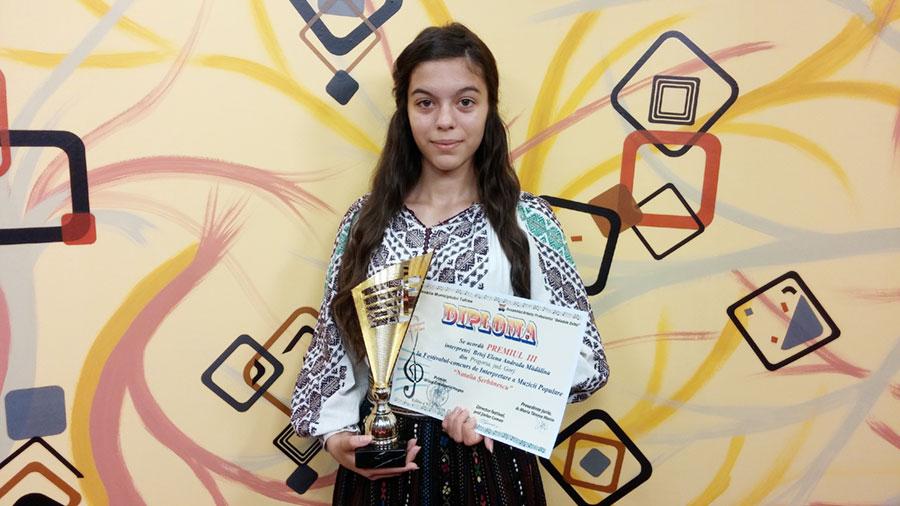 În urma muncii mele am reușit să urc pe podium, la Tulcea, obținând premiul III