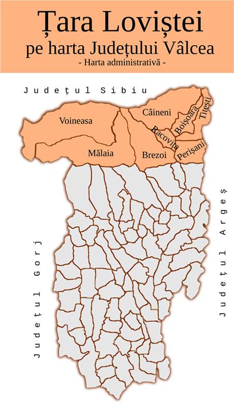 Țara Loviștei face parte istoric și geographic din Oltenia