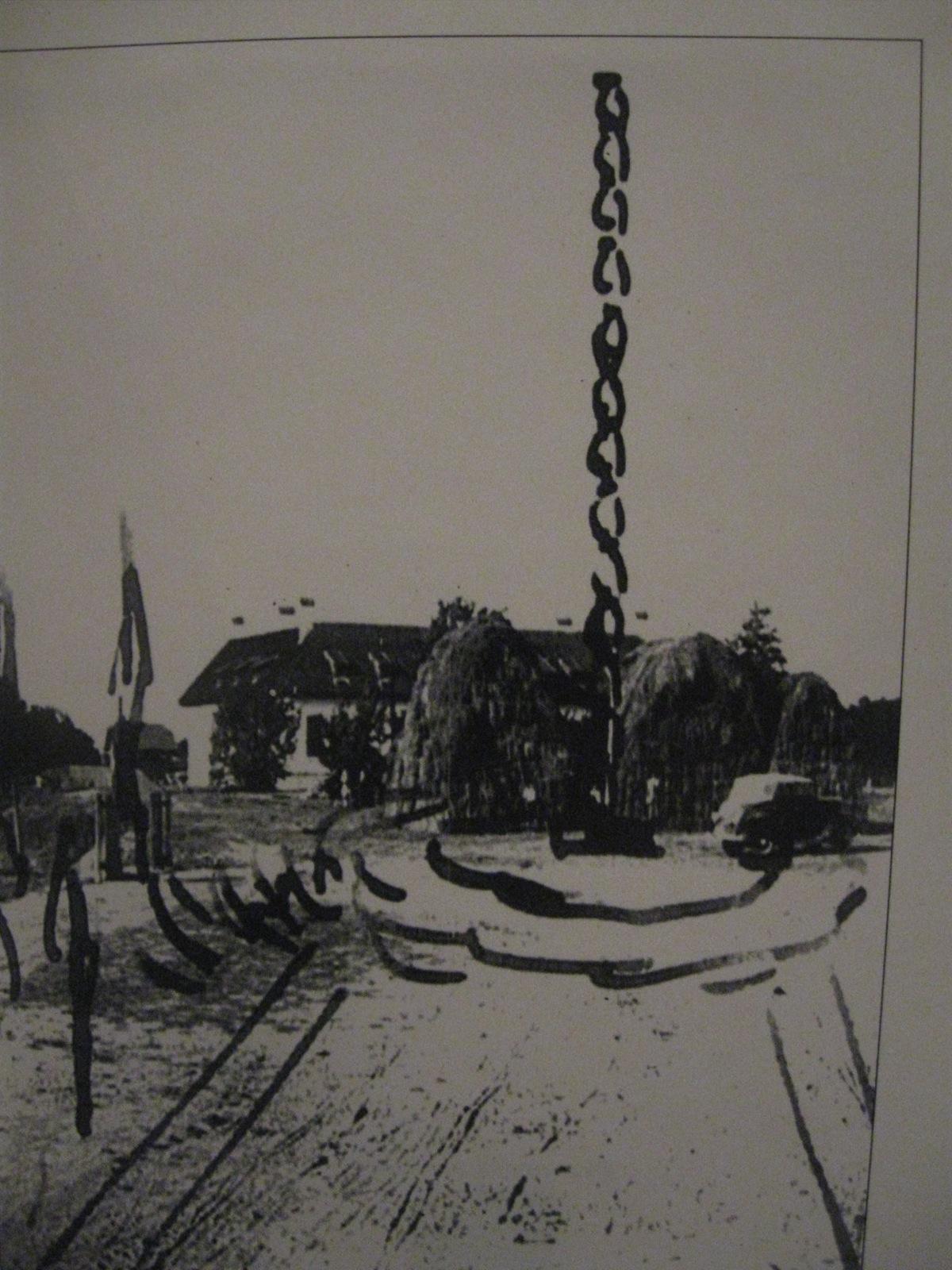 Schița Coloanei efectuată chiar de Constantin Brâncuși